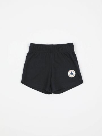 מכנסיים קצרים עם הדפס לוגו / בנות