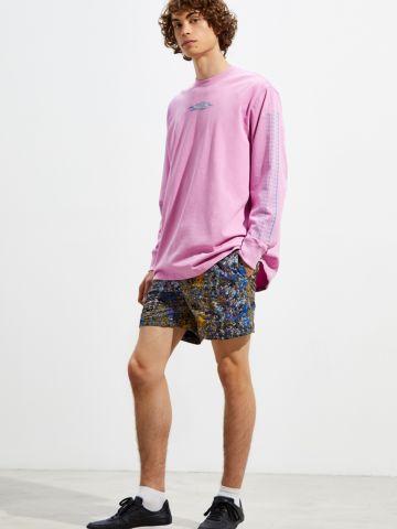 מכנסי ניילון קצרים בהדפס צבעוני UO