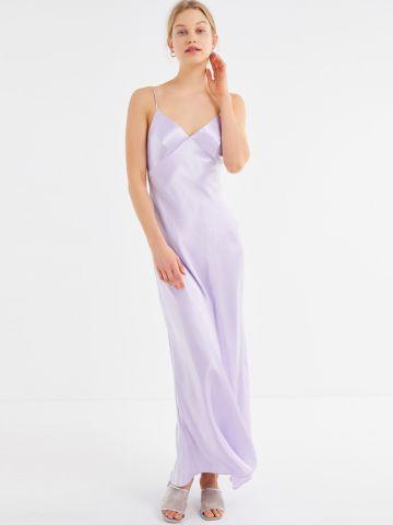 שמלת מקסי סאטן UO