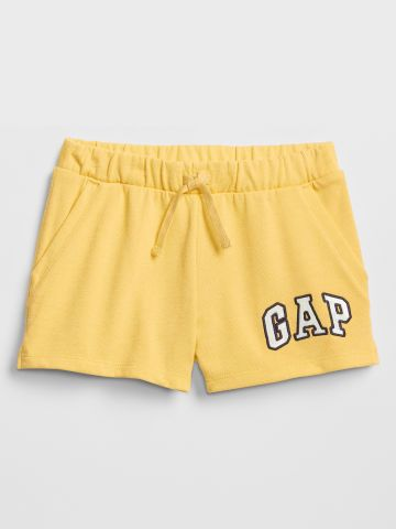 מכנסי טרנינג קצרים לוגו / בנות