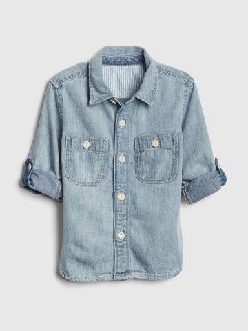 חולצת ג'ינס מכופתרת / בנים