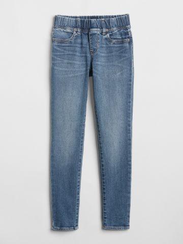 ג'ינס סקיני סטרץ' עם גומי מותן / בנות