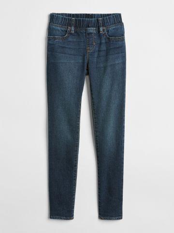 ג'ינס אלסטי בשטיפה כהה Superdenim / בנות