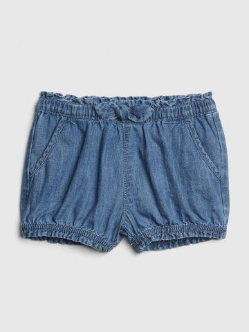 מכנסיים קצרים דמוי ג'ינס / בייבי בנות
