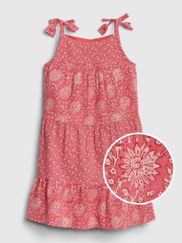 שמלת קומות בהדפס פרחים / בייבי בנות
