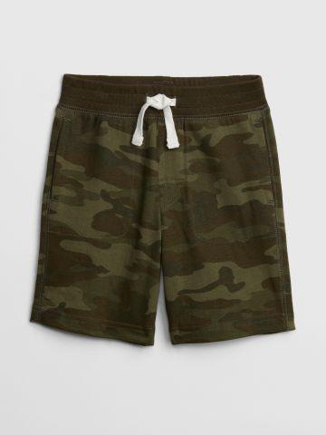 מכנסי טרנינג קצרים קמופלאז' / בנים
