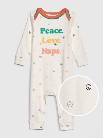 אוברול ארוך Peace Love Naps / בייבי