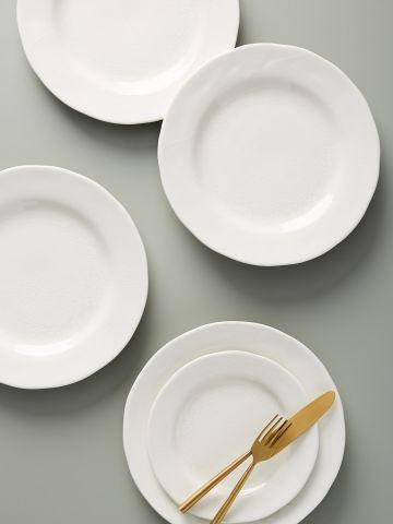 סט 4 צלחות פורצלן / עיקרית