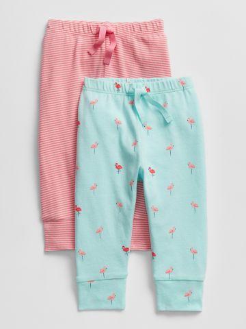 מארז 2 מכנסיים ארוכים בהדפס / בייבי בנות
