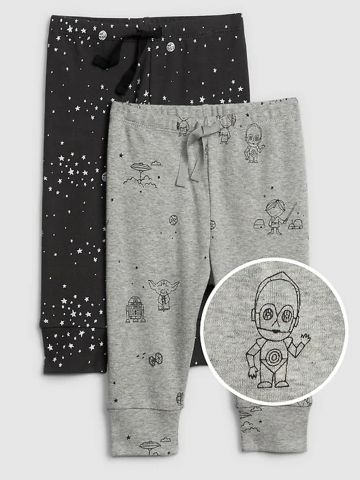 """מארז 2 מכנסי טרנינג בהדפס """"מלחמת הכוכבים"""" / 0M-24M"""