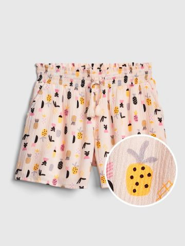 מכנסיים קצרים בהדפס אננס / בנות