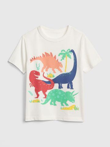 טי שירט עם הדפס דינוזאורים / בייבי בנים