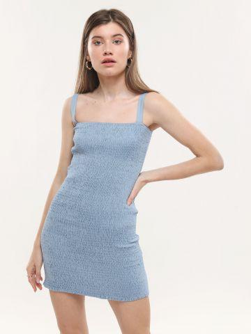 שמלת מיני בטקסטורת כיווצים