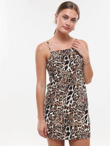 שמלה מיני בהדפס מנומר
