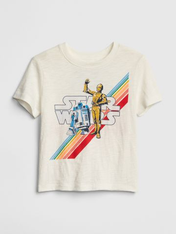 טי שירט עם הדפס Star Wars / בנים