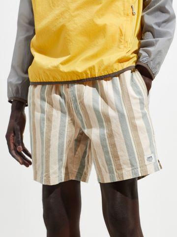מכנסי פשתן קצרים בהדפס פסים Katin