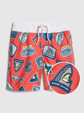 מכנסי בגד ים בהדפס כרישים / בייבי בנים