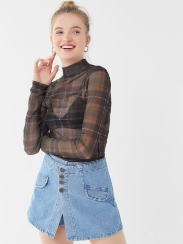 מכנסי חצאית מיני ג'ינס BDG