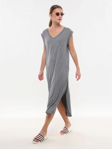 שמלת טי שירט מידי עם שסעים של FRIDAYS PROJECT
