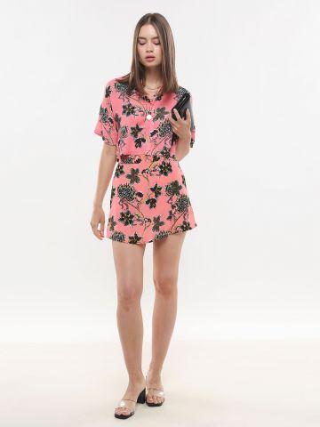 מכנסי חצאית בהדפס פרחים