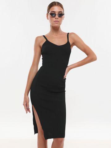 שמלת ריב מידי עם שסע