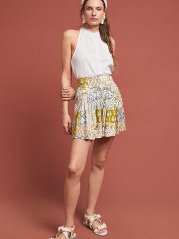 מכנסיים קצרים בהדפס פרחים עם קפלים Maeve