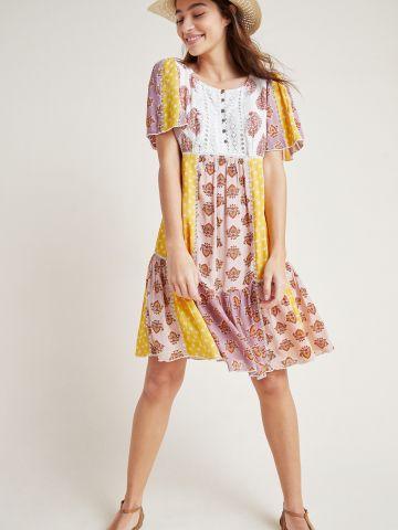 שמלת פאצ'ים מיני עם פפלום Maeve