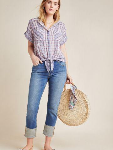 ג'ינס סלים בגזרה גבוהה Pilcro and the Letterpress