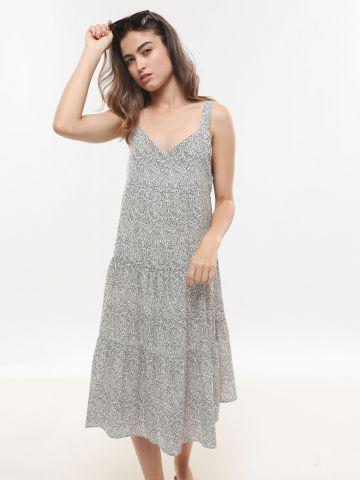 שמלת מידי קומות בהדפס פייזלי