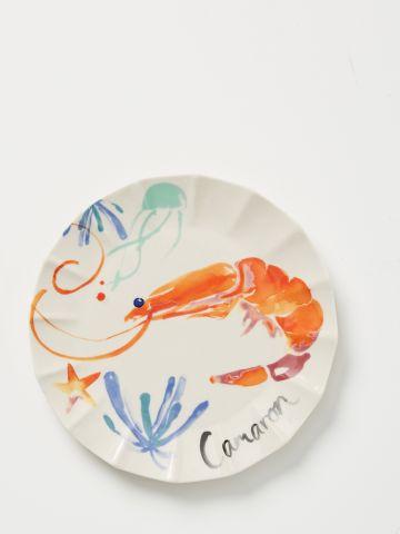 צלחת חרסינה בהדפס חסילון Sarah Hankinson / מנה עיקרית