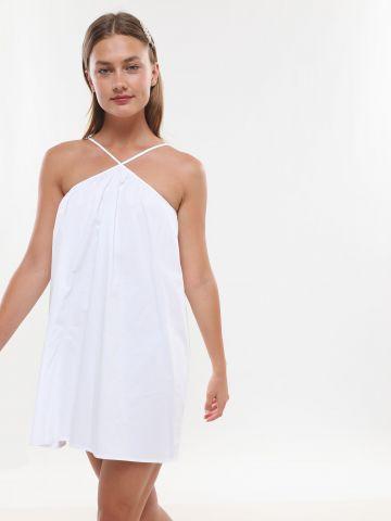 שמלת מיני עם צווארון Y