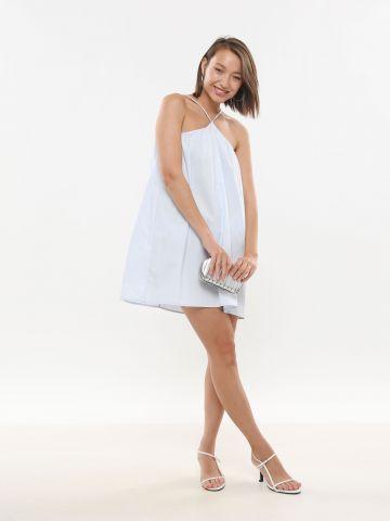 שמלת מיני עם כתפיות Y