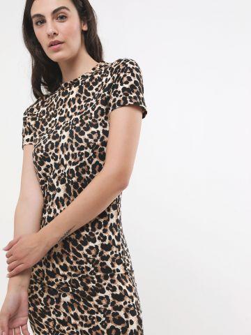 שמלת מיני בהדפס מנומר