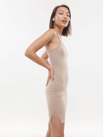 שמלת מיני ריב עם שסע