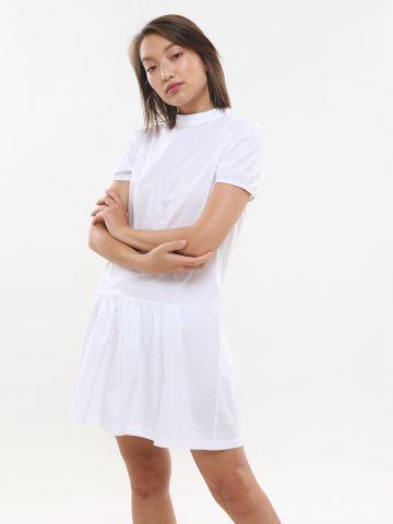 שמלת מיני פפלום עם צווארון סיני של TERMINAL X