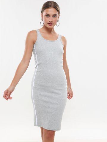 שמלת מידי ריב עם סטריפים