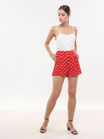 מכנסיים קצרים בהדפס נקודות של GLAMOROUS