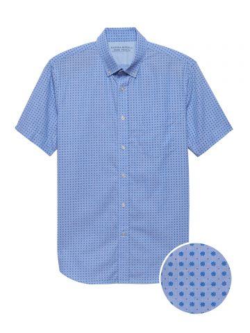 חולצה מכופתרת Slim-Fit בהדפס פרחים / גברים