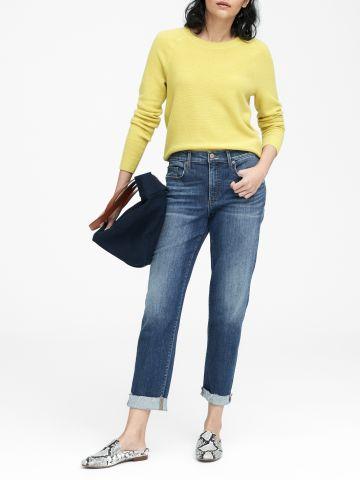 ג'ינס ארוך בגזרה ישרה Mid-Rise Straight / נשים