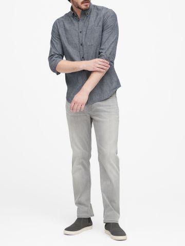 חולצה מכופתרת Slim-Fit / גברים