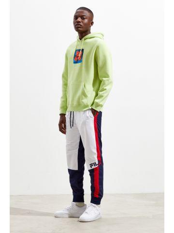 מכנסי ניילון קולור בלוק עם לוגו Fila