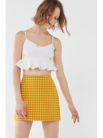 חצאית מיני בהדפס משבצות UO