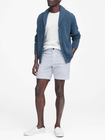 מכנסי Slim קצרים בהדפס פסים / גברים