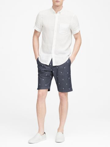 מכנסיים קצרים בהדפס אננסים / גברים
