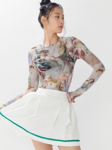 חולצת רשת בהדפס רנסנס UO