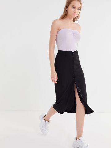 חצאית מידי עם כפתורים UO