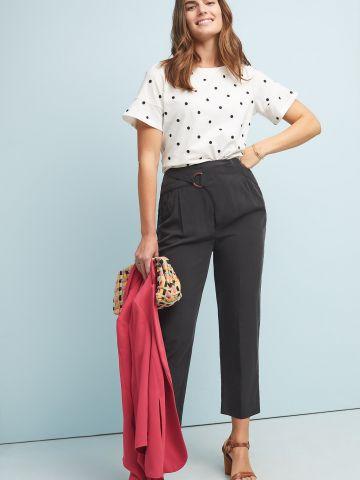 מכנסי קופרו בסגנון מעטפת אסימטרית