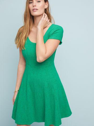 שמלת מחויטת מיני עם מפתח עגול Maeve