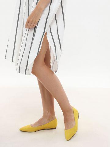 נעלי סירה זמש עם קצה מחודד / נשים