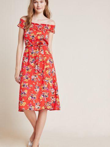 שמלת מידי אוף שולדרס בהדפס פרחים 52 Conversations
